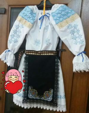 Costum popular fetite 5-10 ani