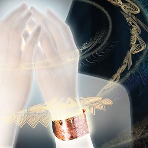 Împărtășire - brățară din cupru