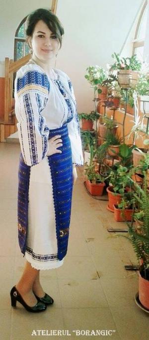 Costum Popular Albastru