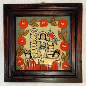 Icoana pe sticla Invierea Domnului