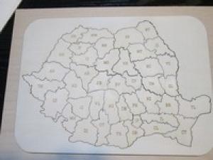 Harta Romania puzzle
