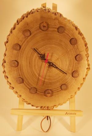 201 Ceas lemn de nuc