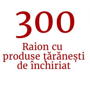 Raion cu produse țărănești de închiriat (300 de standuri)